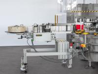 Gruppi di distribuzione etichette autoadesive montati direttamente sulla macchina o modulari (inseriti o rimossi a seconda delle esigenze di produzione anche direttamente sui gruppi a colla disattivabili elettricamente)