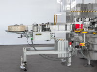 Self-adhesive label distribution units mounted directly on the machine or modular (added or removed according to production requirements also directly on the wet glue labelling units that can be deactivated electrically)